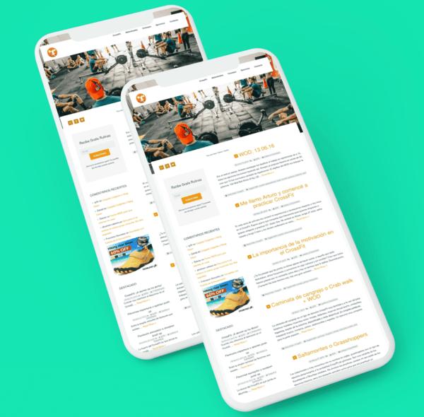 diseño blog crossfit